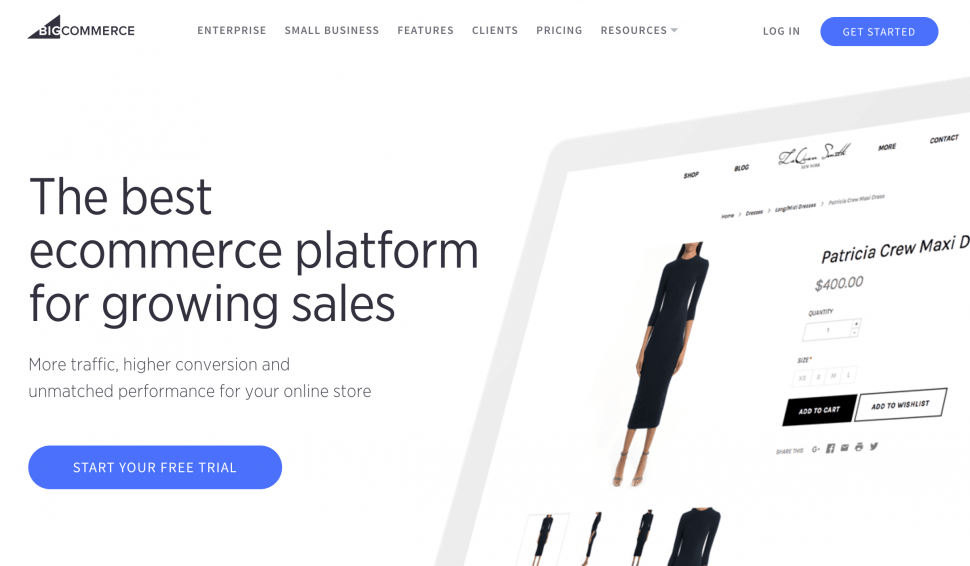 Big Commerce - best eCommerce store builders