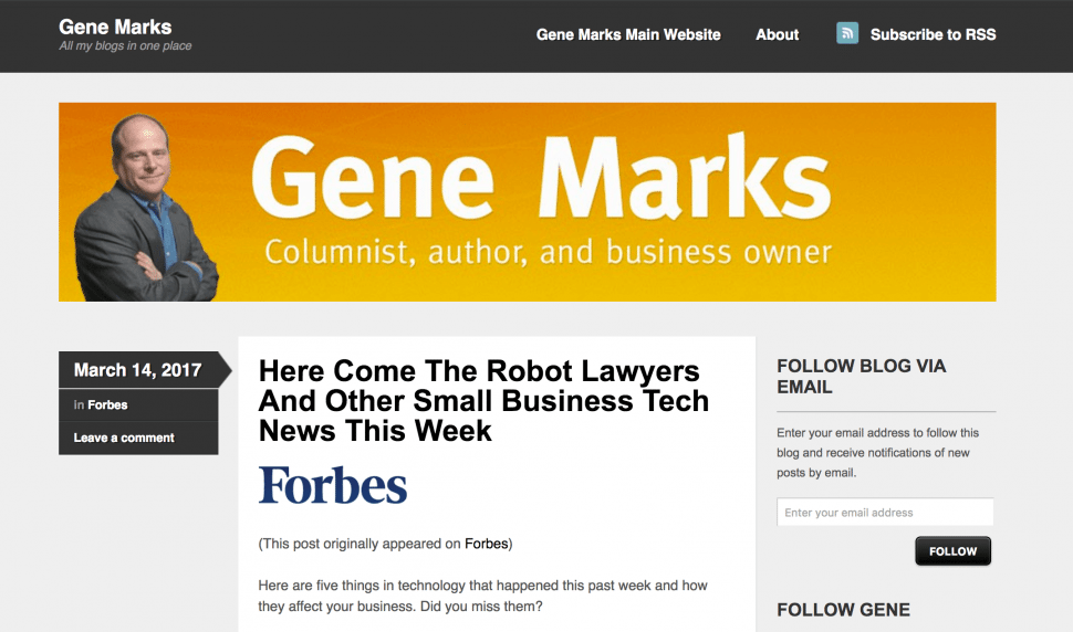 Genemarks - Small Business Journalists