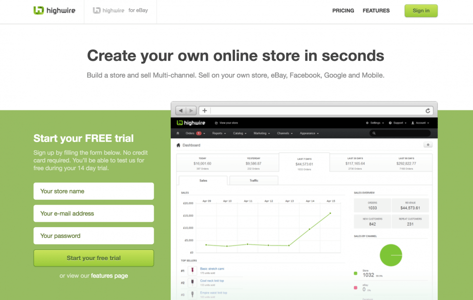 Highwire - eCommerce website store builder