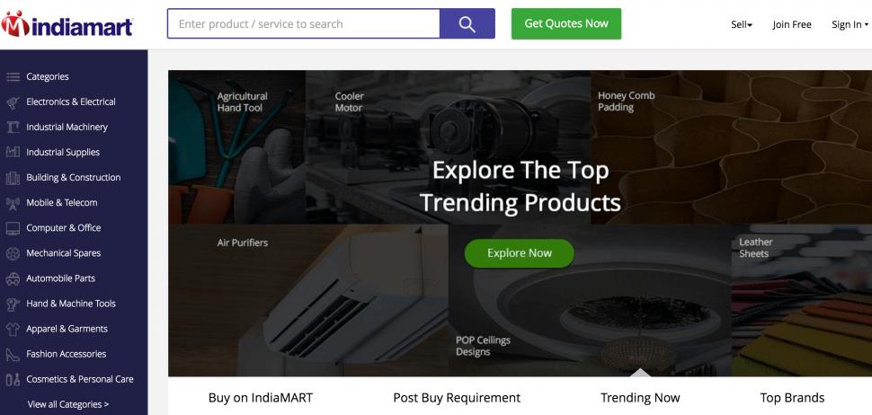 India Mart - B2B marketplaces for trading India