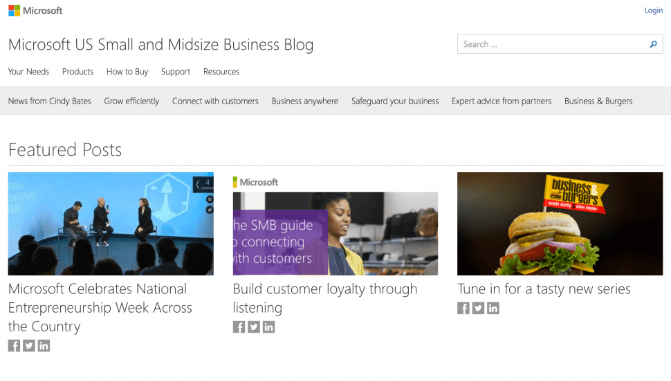 Microsoft Small Business Blog