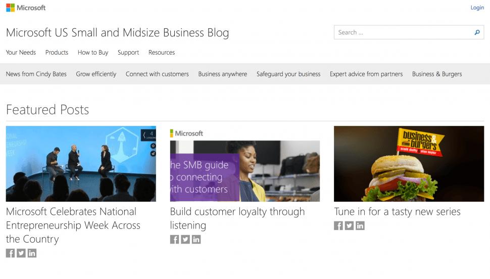 Microsoft Small Business Blog