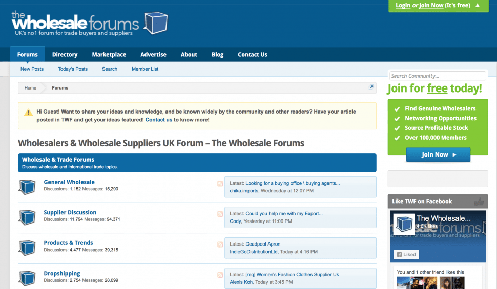 The Wholesale Forums.co.uk - Best wholesale forums to join