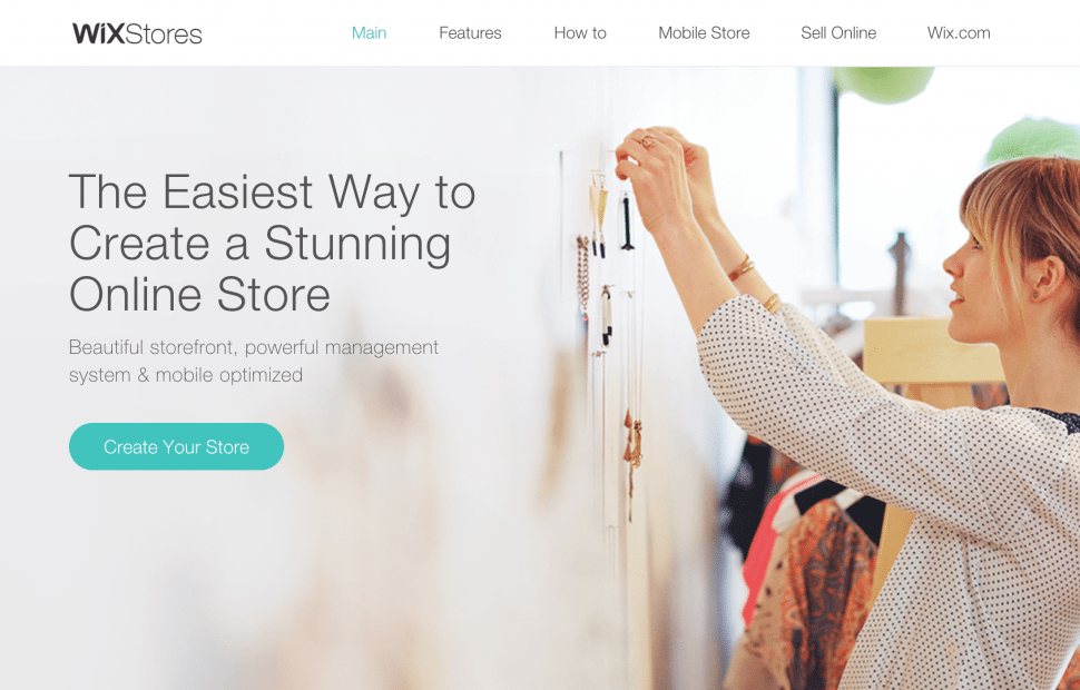 Wix - online commerce store builders