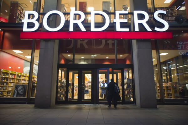 Borders - 5 retailers failed miserably