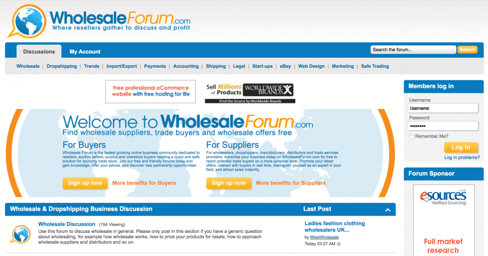 wholesalesforum.com - #2 Best wholesale forums