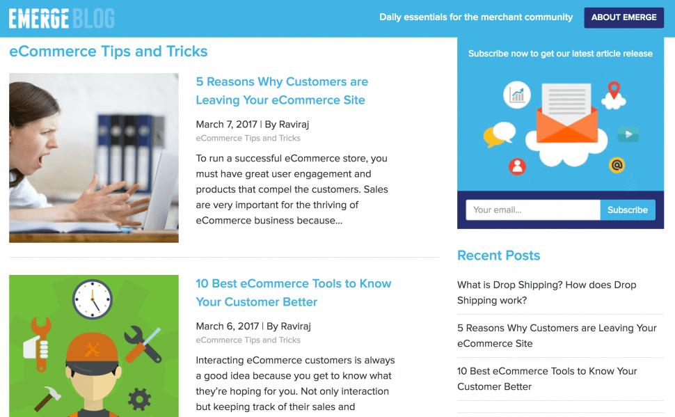EMERGE App - Best eCommerce blog