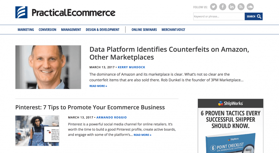 Practical eCommerce - best eCommerce blogs