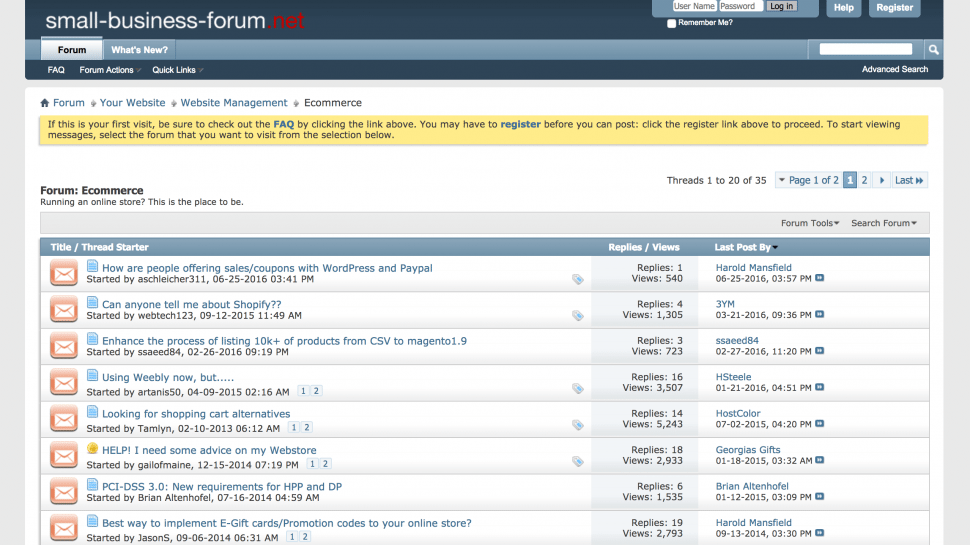 Small Business Forum - online seller forums