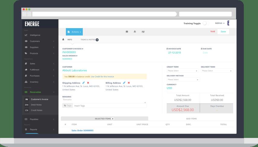 Order Management System (OMS) - invoicing