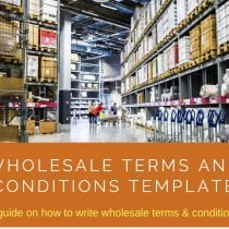 Wholesale Terms and Conditions Template