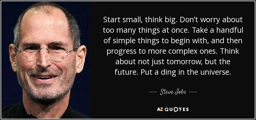 Start small Think Big - Wholesalers