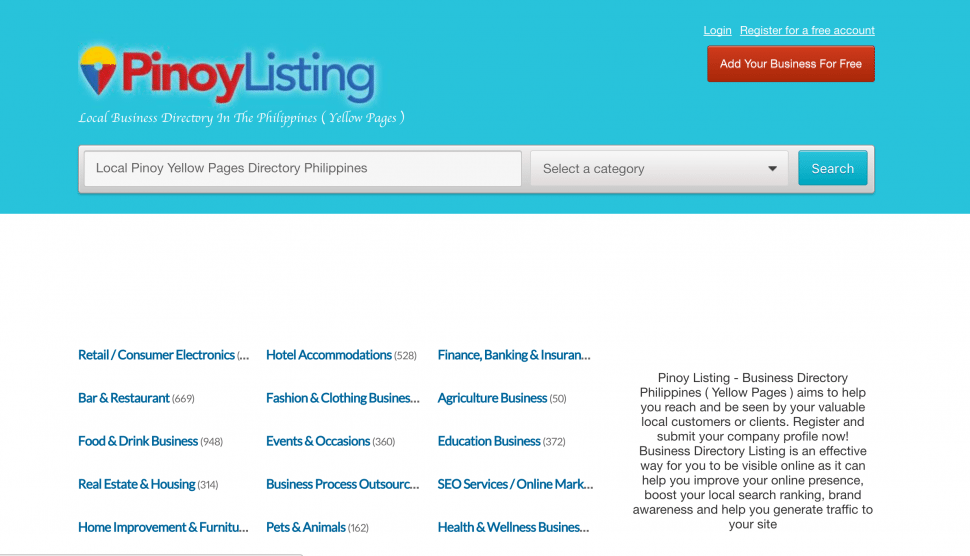 B2B Sites in Philippines - Pinoy Listings