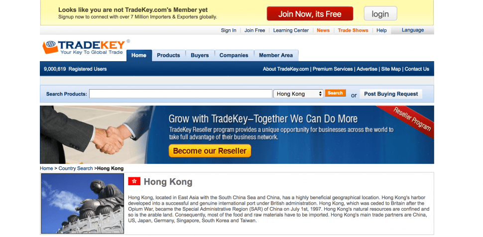 TradeKey - B2B sites in Hongkong
