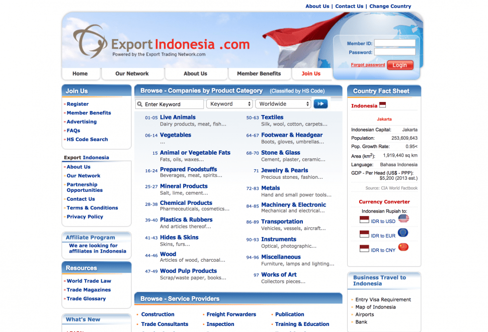 exportindonesia - B2B marketplaces in Indonesia