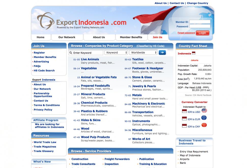 exportindonesia - B2B marketplaces in Indonesia