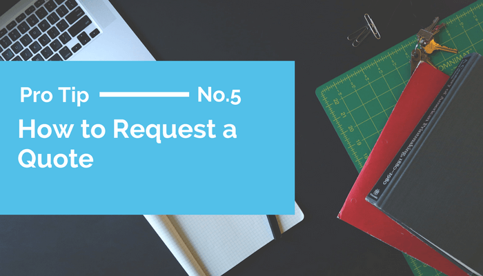 How to Request a Quote