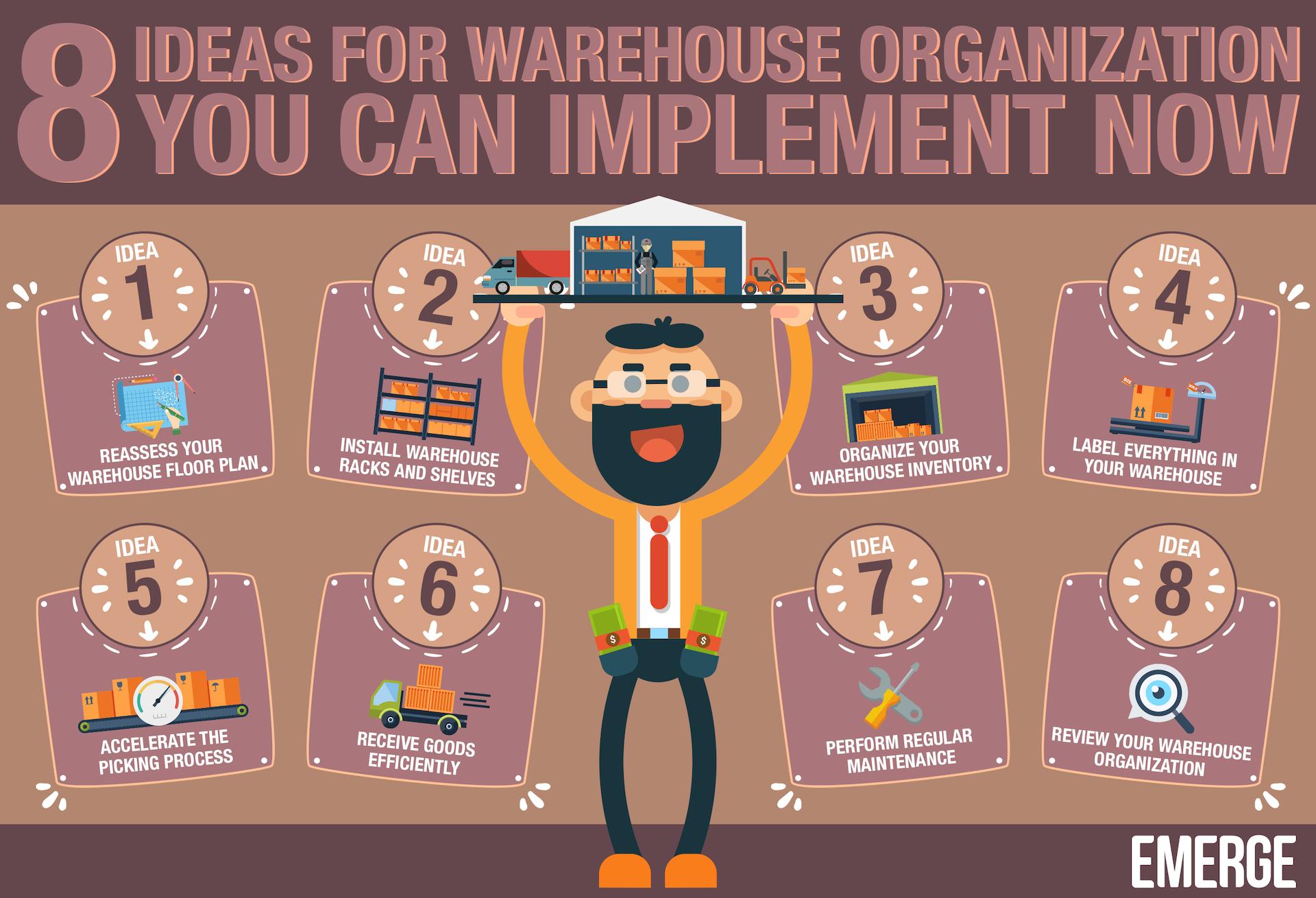 warehouse organization ideas
