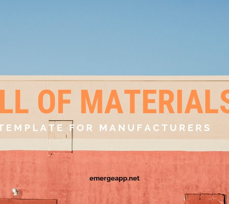 Bill of materials template