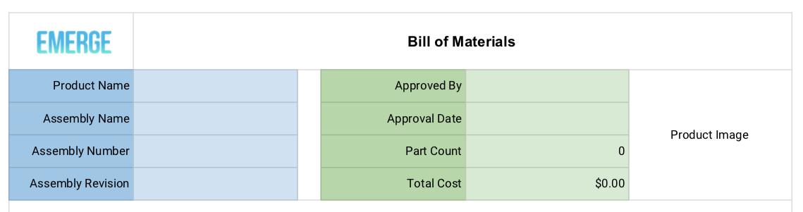 为批发制造企业准备的一份材料清单